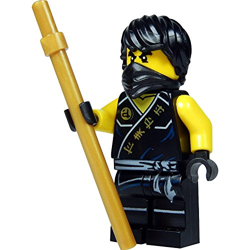 Ninjago Lego Minifigur Cole Sleeveless with golden Staff (Out of 70753) Lava Falls^
