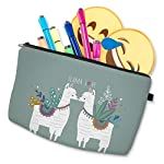 Cosmetic-Bag-for-Purse-Adorable-Cute-Roomy-Makeup-Bag-Pouch-Small-for-Womens-Girls-Travel-Waterproof-Toiletry-Accessories-Organizer-Case-Gift-Llama-Love-51434