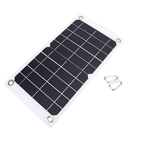 NUZAMAS Poartable 7.5 W Panel Solar 5 V USB teléfono Cargador batería Libre 2 aleación Clips