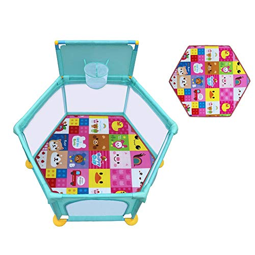 Best Bargain HOMESROP Suitable for Indoor Playpens,Washable Fence Breathable Mesh, Indoor and Outd...
