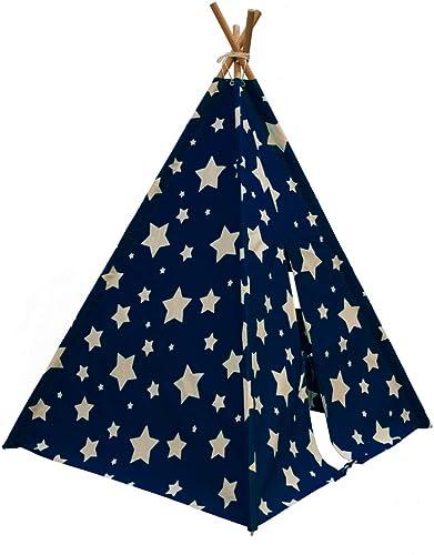 Sunny Tipi Zelt Cosmo Leuchtet im Dunkeln Spielzelt Blau und Weiß C052.102.01