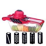 WEIXIAO Wlkh Cortador de verduras, cortador de fruta, pelador de patatas, zanahorias, mandolina, herramienta de cocina y accesorios (color: A4)