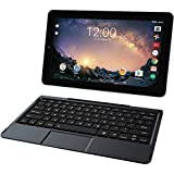 2018 RCA Galileo Pro High Performance 2-in-1 11.5' Touchscreen Tablet PC, Intel Quad-Core Processor 32GB SSD 1GB RAM Webcam WiFi Bluetooth Detachable Keyboard Android 6.0, Black