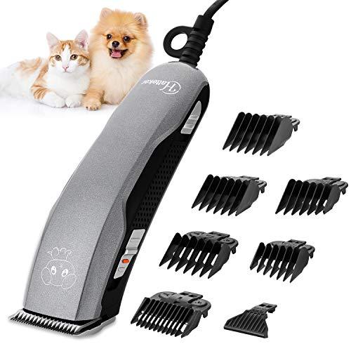 Hatteker Tondeuse professionnelle pour animaux - Tondeuse silencieuse pour chien et chat avec câble - Facile à utiliser - Lame tranchante et sûre