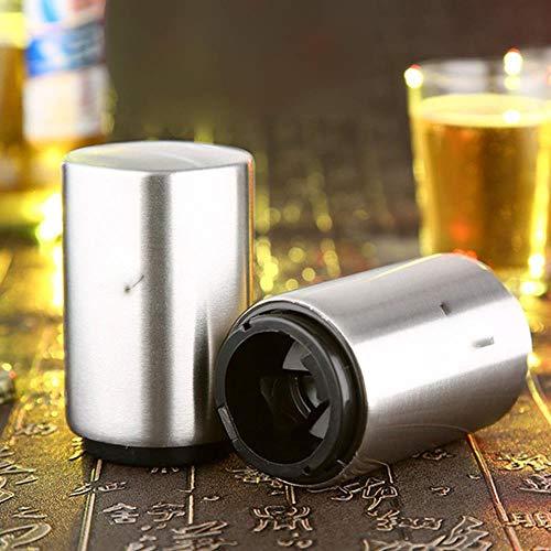 PONNMQ Apribottiglie per Birra Automatiche Creative Apribottiglie per Vino in Acciaio Inossidabile Birra per Vino Accessori per Bar Portatili