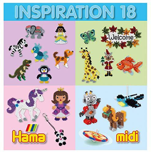 Hama Perlen 399-18 Inspiration Heft Nr. 18 Vorlagenbuch mit farbenfrohen Ideen, Motiven und Anleitungen zum Basteln mit Bügelperlen, kreativer Bastelspaß für Groß und Klein