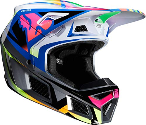 Fox V3 Idol - Casco, color naranja y azul