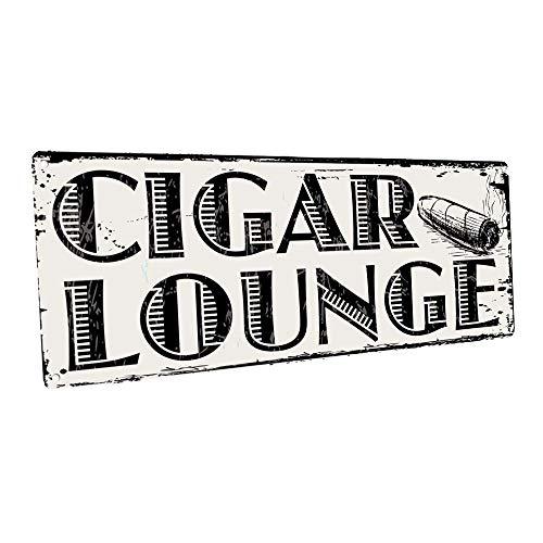 OMSC Cigar Lounge Metal Sign, Man Cave, Den Decor, Bar Decor