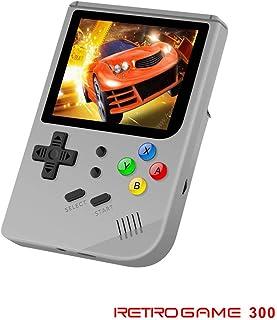 Neutral Videojuegos de 3 Pulgadas Consola Retro de FC portátil Nuevo Juego Retro de BittBoy Juegos de Mano Consola Jugador RG 300 16G + 32G TF 3000 Juegos(Gris)