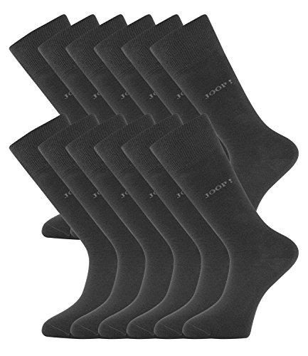 JOOP! Herren Socken Strümpfe Business Allround 900000 12 Paar, Farbe:Grau;Sockengröße:39-42;Artikel:-2100 anthra mel.