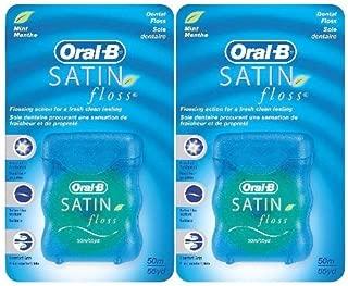 Oral B Satin Floss - Mint - 55 yd - 2 pk
