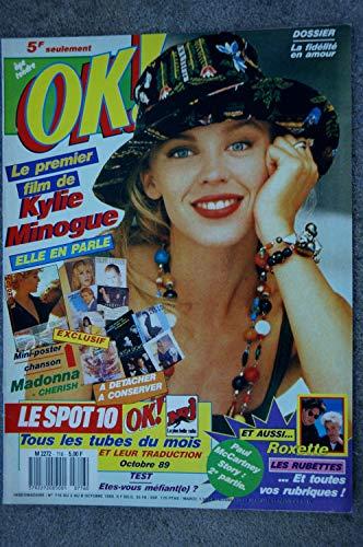 OK ! âge tendre 716 OCTOBRE 1989 COVER KYLIE MINOGUE MADONNA + FICHES LE SPOT 10 ROXETTE PAUL McCARTNEY