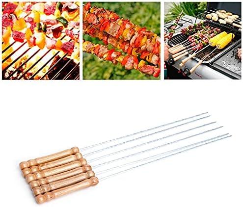 Barbecue Nippon regular agency Skewers 12pcs Stainless Steel Roast Large-scale sale Skewer BBQ