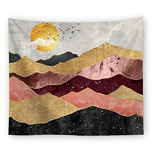 Psicodélico paisaje natural montaña sol tapiz colgante de pared decoración del hogar decoración de la habitación tela para colgar en la pared A4 180x200cm