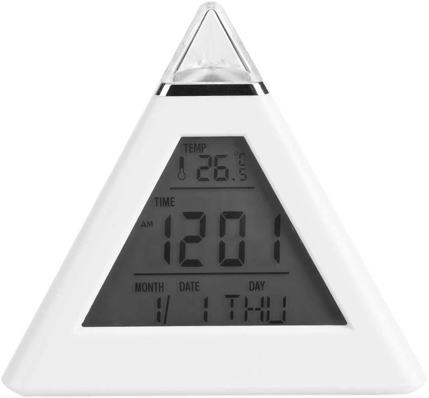 Multi-Function Triangle Alarm Clock 7 Online limited product Color Pyramid D LED Reservation Change