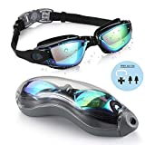 PrimAlite Swimming Goggles Silicone Anti-Fog, UV Protection for Adults Men Women Kids with...