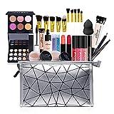 All in One Makeup Kit Makeup Kit for Women Full Kit,Multipurpose Makeup Kit,Cosmetic Starter Beauty Kit Include Makeup Brush Set,Eyeshadow,Lip Gloss,Eyebrow Pencil,Mascara,Travel Carry Bag (KIT007)