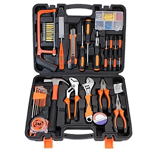 Kit de herramientas de mano del hogar de Inicio de reparación Herramientas Destornillador Martillo Llave Alicates Herramientas mezclados con la caja de hardware herramienta de los accesorios 100PCS