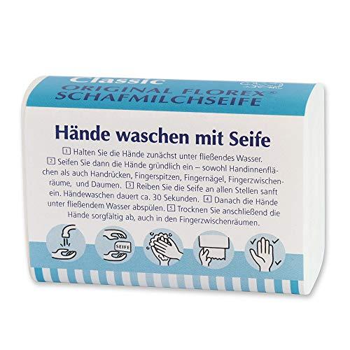 Florex Savon au lait de mouton - Classic - Lavage des mains au savon - 100 g