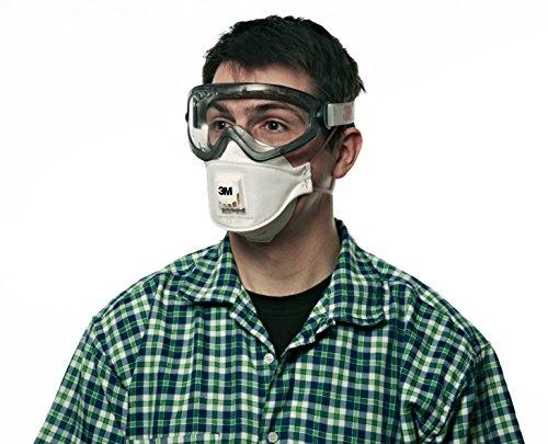 3M 9322 FFP2 NR D - Atemschutzmaske/partikelfiltrierende Halbmaske (Atemschutzfilter) Arbeitsschutz, Schutzklasse FFP2, optimal auch für Brillenträger, 1 Stück - 3