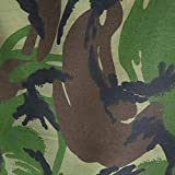 Woodland Camouflage Stoff, Polyester, mehrfarbig, 1m length