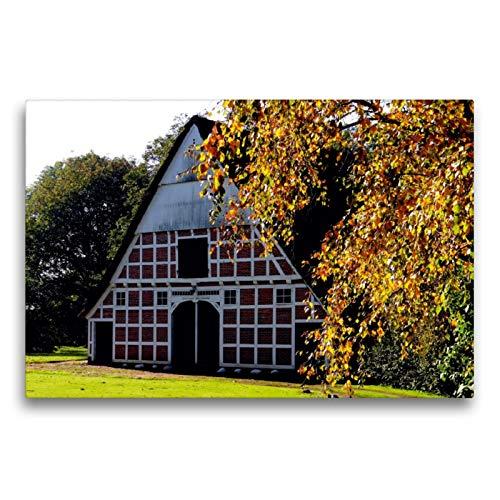 CALVENDO Premium Textil-Leinwand 75 x 50 cm Quer-Format Historischer Kehdinger Bauernhof, Leinwanddruck von Henning von Loewis of Menar