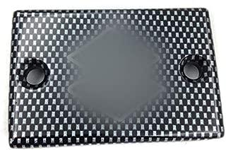 HTTMT MT249-004- Motorcycle Carbon Fiber Billet Aluminum Rear Brake Fluid Reservoir Cap Cover