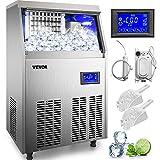 VEVOR 110V Commercial Ice Maker 80-90LBS/24H, 33LBS Storage Bin,...