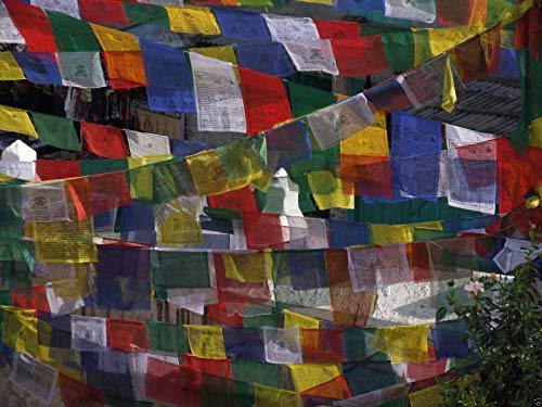 Les véritables drapeaux de prière tibétains