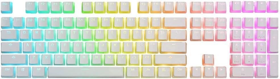 Feicuan Double Shot PBT Teclas 104 Keycaps Gaming Keyset Retroiluminado para Teclado mecánicos (Solo Teclas)