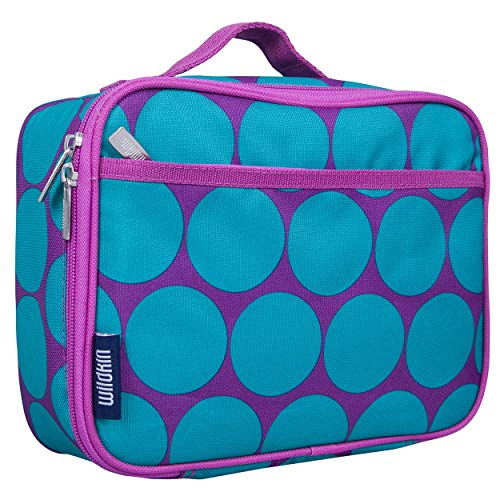 Wildkin Kids Insulated Lunch Box Bag for Boys and Girls, Perfect Size for Packing Hot or Cold Snacks for School & Travel, Measures 9.75 x 7.5 x 3.25 Inches, Mom's Choice Award Winner (Big Dot Aqua)