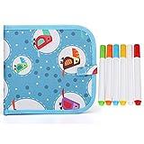 Justdolife Blocco per bambini Doodle Board Creativo portatile cancellabile Tavolo da disegno Doodle Pad con 6 penne