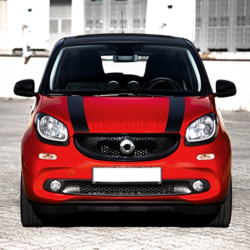 FOLIENTECHNIK BAYER 1058 Motorkap stickers voor Smart Fortwo 453 (Zwart)
