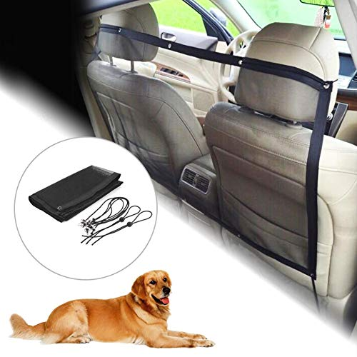 DSstyles Pet Net for Car Pet Barrier Pet Safety Net Car Mesh Net Vehicle  Safety Mesh Dog Barrier with Hooks and Straps Car Travel Accessories  Automotive