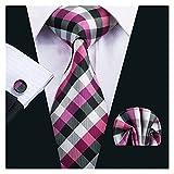 YSJJOSX Corbata para Hombre Corbatas Amarillas para Hombres para Hombres Camisetas Tíbitos de Seda para Hombre Pañuelo Pañuelo Pañuelo Set 15 Colores (Color : S 1410)