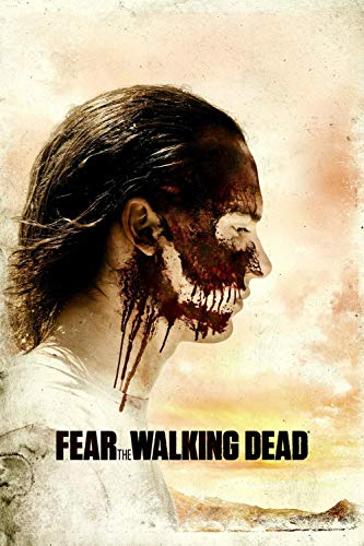 KJHJKH Fear the Walking Dead Tv Show Posters Pintura de Diamante 5D DIY,Taladro Completo Redondo Cristal Rhinestone Pintura Arte (40 cm x 60 cm)