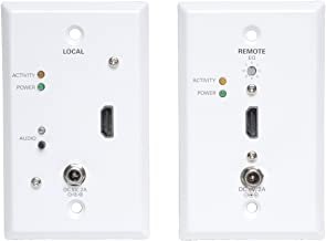 Tripp Lite HDMI Over Cat5 / Cat6 Extender, Extended Range Wallplate Transmitter and Receiver for Video and Audio 1920x1200 1080p at 60Hz(B126-1A1-WP)
