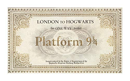 bubbleshirt Poster Hogwarts Ticket - Harry Potter - Travel - Vintage - Dimensioni 50x70 cm e 70x100 cm