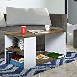 Klaxon Senin Coffee Table - White and Rustic - 90cm*45cm*45cm