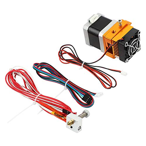 Basage Extruder, All Metal Extrusion Head Mk8 Extruder 3D Printer Accessories I3 Extrusion Head Suitable for 3D Printers,24V