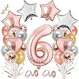 TaimeiMao 6er Cumpleaños Bebe Globos Decoracion,Globos Numeros 6 Decoracion,Cumpleaños Niñas,Globo Numero,Globos Numeros Gigantes,Globos de Cumpleãnos,Globos Numeros Gigantes para Fiestas