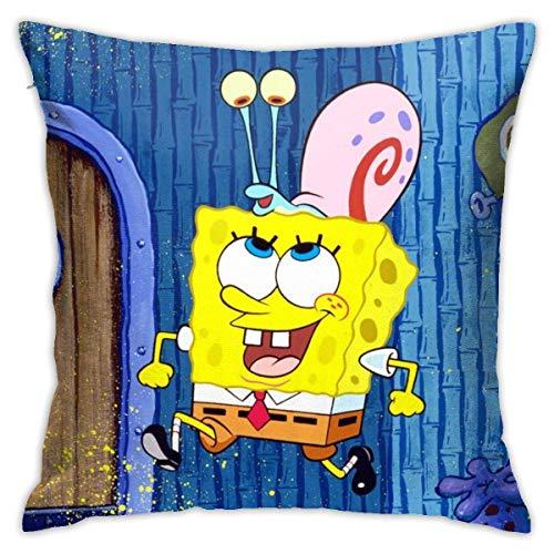 N \ A Juego de fundas de almohada de Bob Esponja Band-Geeks de 45,7 x 45,7 cm de forma cuadrada para cojín decorativo para sofá