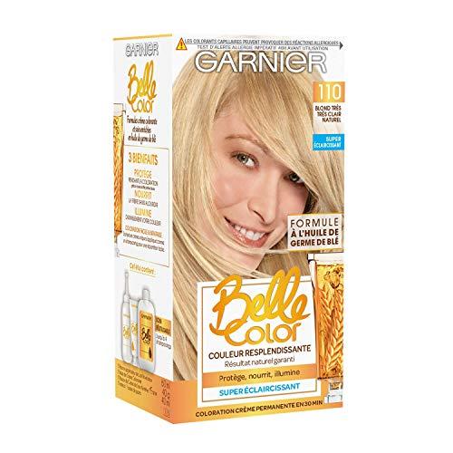 Garnier Belle Color – Colorazione permanente biondo – 110 biondo molto chiaro naturale – Set di 2