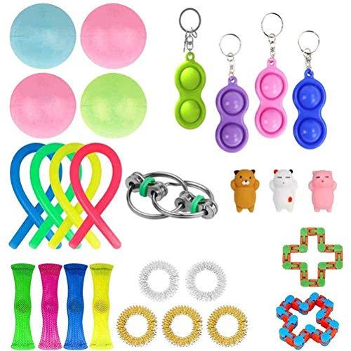 Gazaar Sensory Fidget Toys Set de 27 juguetes sensoriales para niños y adultos y autismo TDAH personas alivia el estrés y la ansiedad Fidget para juguete aula y oficina