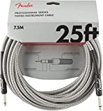 Fender Professional Series - Cable de fibra óptica (7,5 m) Tweed
