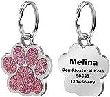 LAOKEAI Personalisierter Hundemarke mit Gravur aus Legierung, Haustier ID Tag mit Namen, Adresse und...