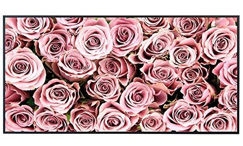 Ecowelle Infrarotheizung mit Bild | 750 Watt | 60x120 cm | Infrarot Heizung| | Made in Germany| a 22 rosa Rosen