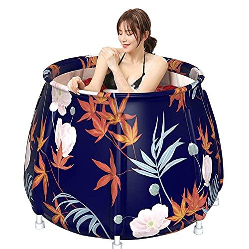 SETSCZY Bañera Plegable, bañera de baño portátil – Bañera de baño Caliente portátil Freestanding, bañera de Uso doméstico para Adultos