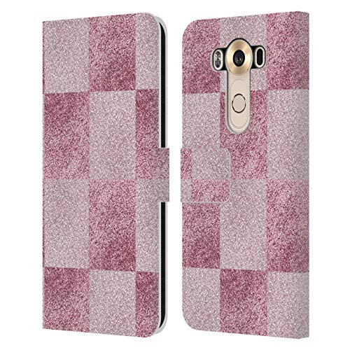 Head Case Designs Officially Licensed Martina Illustration Pink Glitter Girly Textures 2 Leather Book Wallet Case Cover Compatible with LG V10