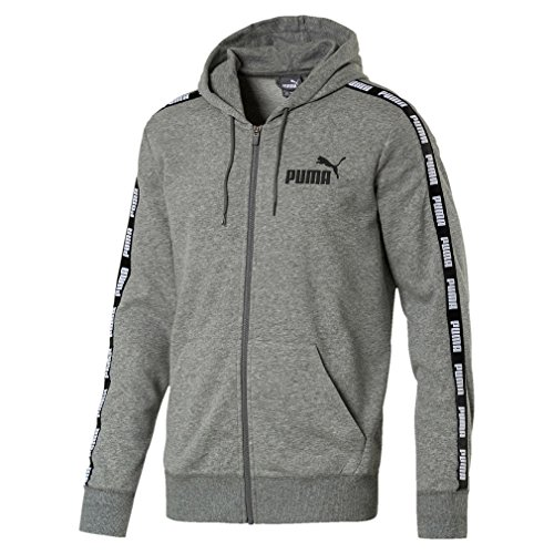 Puma Power Rebel FZ Hoody, Größe:XL, Farbe:Medium Gray Heather